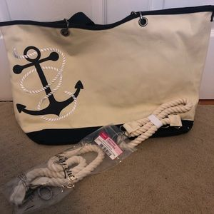 Thirty One | Navy Anchor Canvas Crew Tote